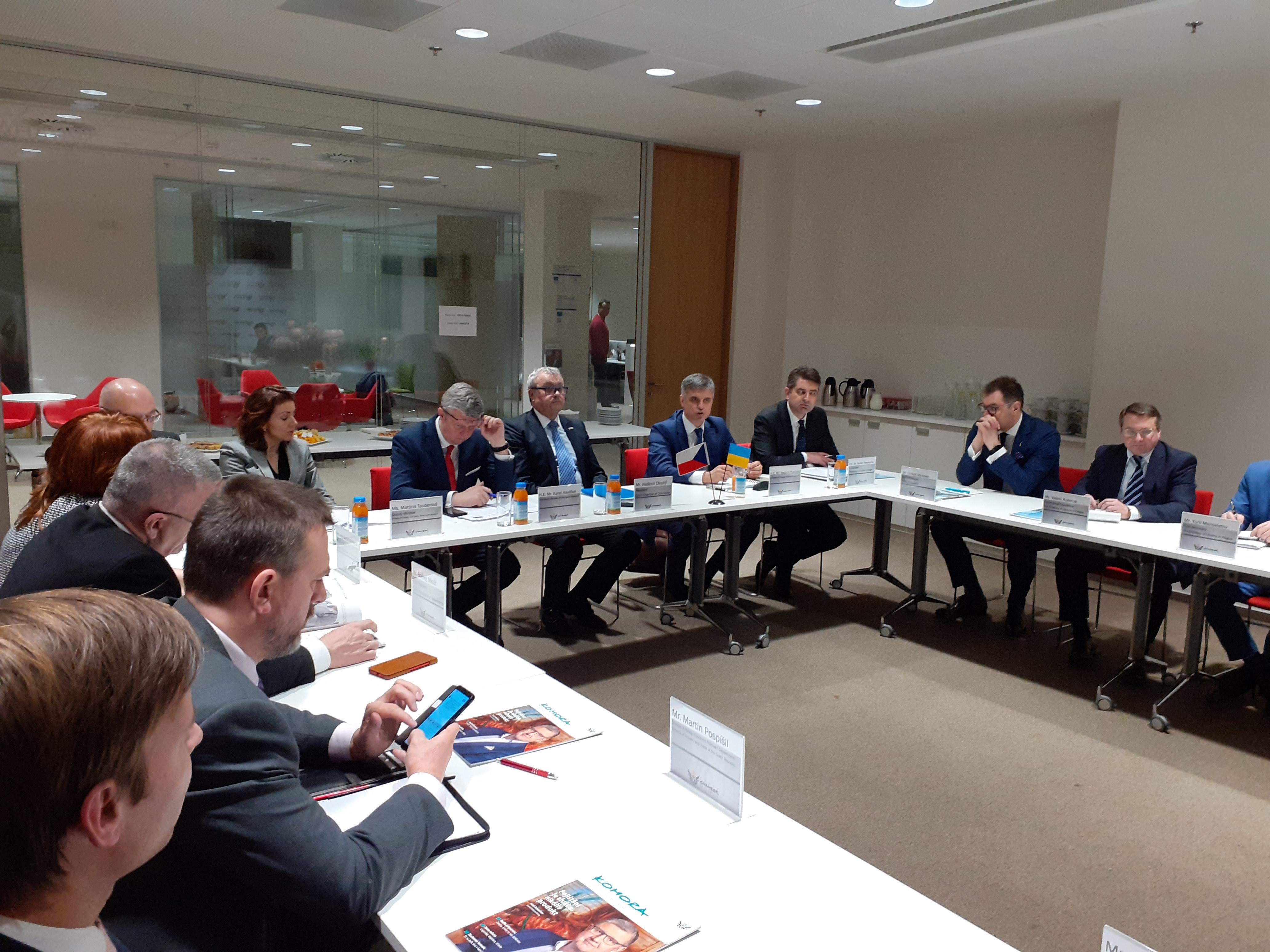 Diskuzní setkání s ukrajinským ministrem zahraničních věcí